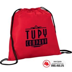 Balo rút vải không dệt in logo Tupy
