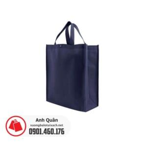 Túi vải không dệt màu xanh navy có nút bấm