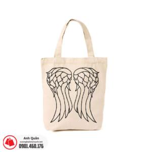 Túi vải bố in chuyển nhiệt đôi cánh