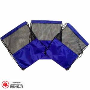 Túi rút vải dù phối lưới màu xanh
