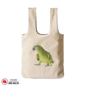 Túi vải bố in chuyển nhiệt Bird