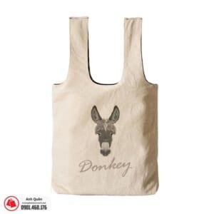 Túi vải bố in chuyển nhiệt Donkey
