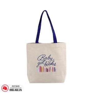 Túi vải bố chặt góc Baby-got-books
