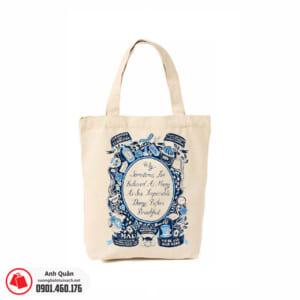 Túi vải bố in chuyển nhiệt Alice-in-Wonderland 02
