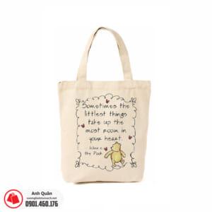Túi vải bố in chuyển nhiệt Pooh-Story