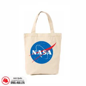 Túi vải bố in lụa NASA