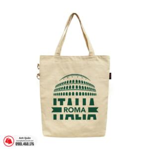 Túi vải bố in chuyển nhiệt Italia-Roma