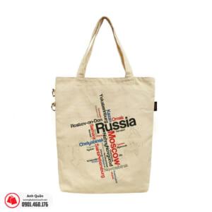 Túi vải bố in chuyển nhiệt Russia