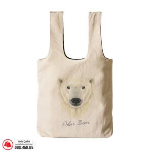 Túi vải bố in lụa Bear