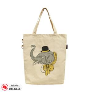 Túi vải bố in chuyển nhiệt Elephant