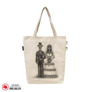 Túi vải bố in chuyển nhiệt Bride-Groom