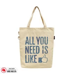 Túi vải bố in chuyển nhiệt All-you-need-is-like