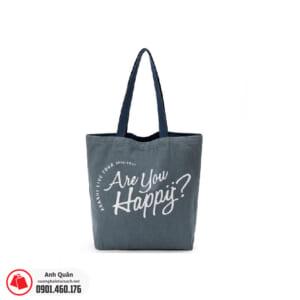 Túi vải bố in lụa Are-you-happy