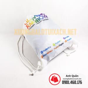 Túi rút in chuyển nhiệt Glow-Rainbow vải dù