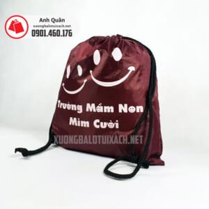 Túi rút in lụa Trường-Mầm-Non-Mỉm-Cười