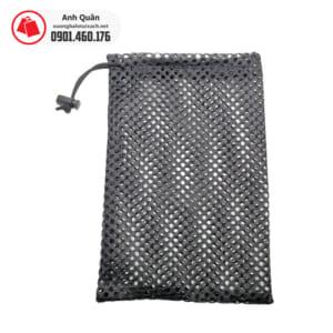 Túi rút vải lưới màu đen
