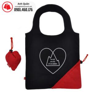 Túi rút trái tim đỏ đen
