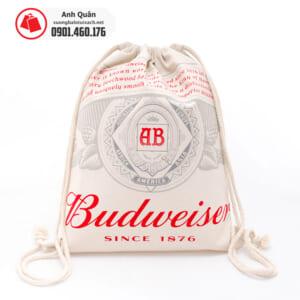 Túi rút vải bố canvas Budweiser