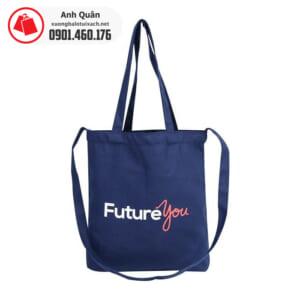 Túi vải bố canvas đeo chéo Future You