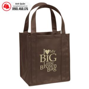 Túi vải không dệt có may viền Big little brow bag