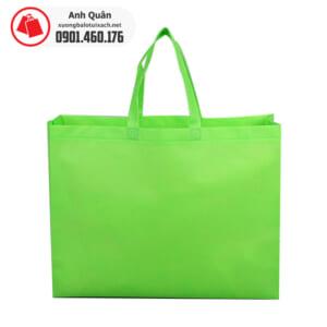 Túi vải không dệt ép nhiệt màu xanh lá