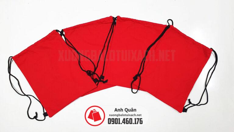 Xưởng sản xuất túi dây rút đỏ trơn